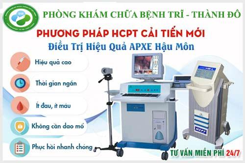 phương pháp HCPT trị áp xe hậu môn cải tiến hiệu quả