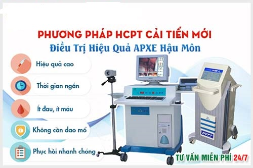 HCPT phương pháp điều trị áp xe hậu môn cải tiến hiện đại nhất hiện nay