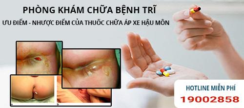 ưu nhược điểm khi chữa áp xe hậu môn bằng thuốc
