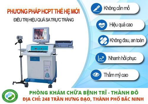 điều trị sa trực tràng bằng HCPT